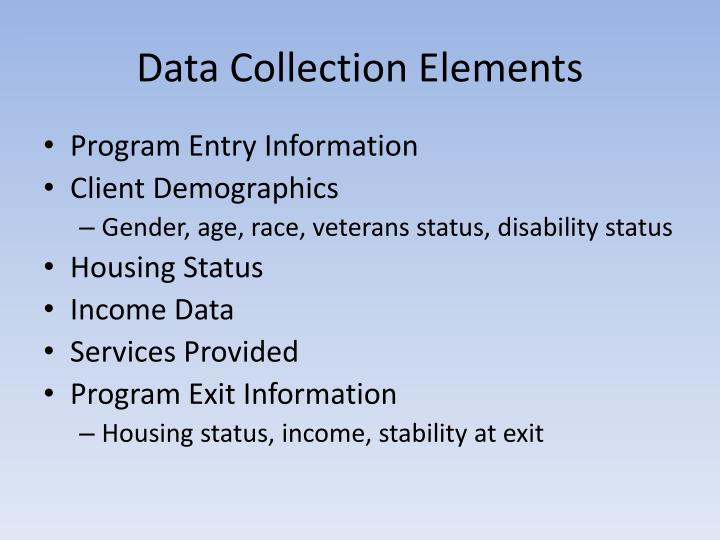 Data Collection Elements