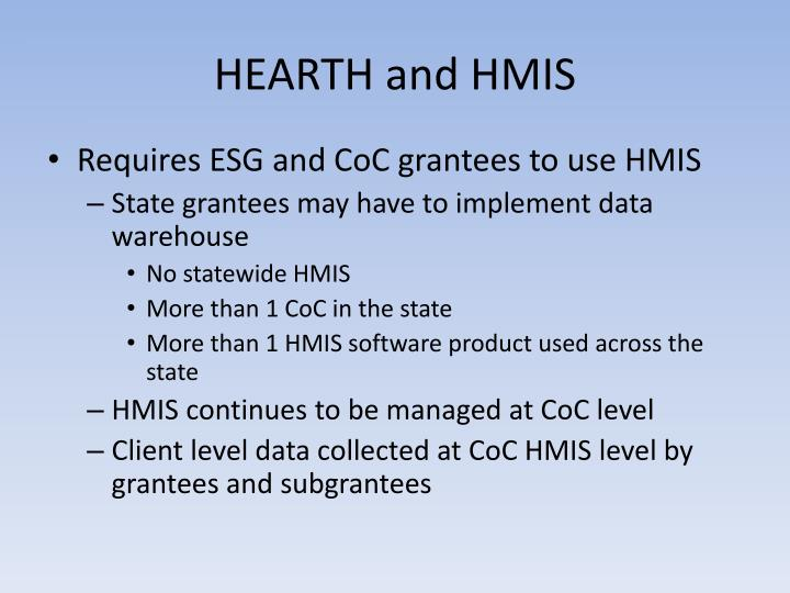 HEARTH and HMIS