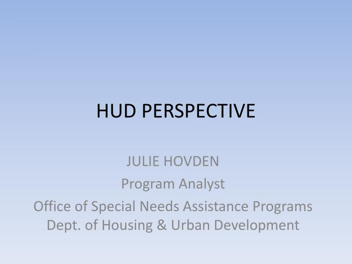Hud perspective