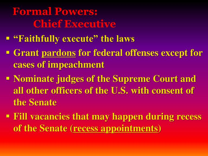Formal Powers: