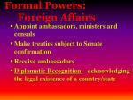 formal powers foreign affairs