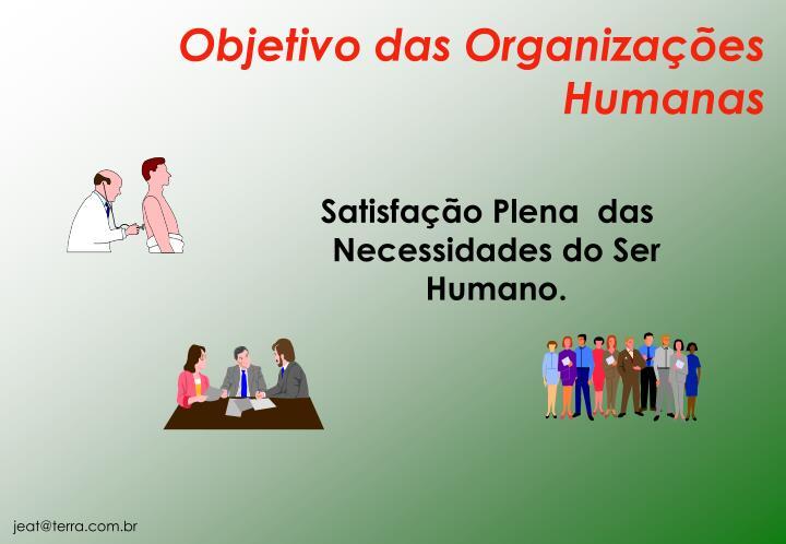 Satisfação Plena  das Necessidades do Ser Humano.