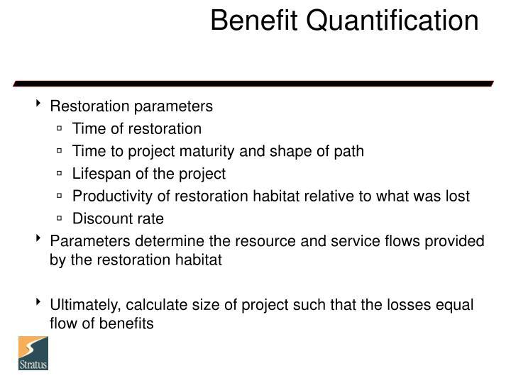 Benefit Quantification