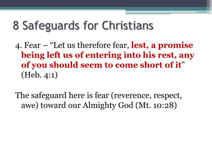 8 Safeguards for Christians