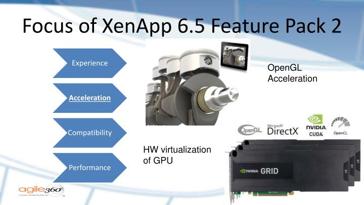 Focus of XenApp 6.5 Feature Pack 2