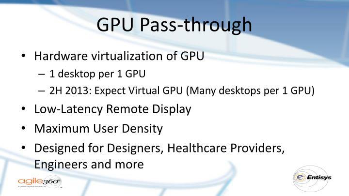 GPU Pass-through