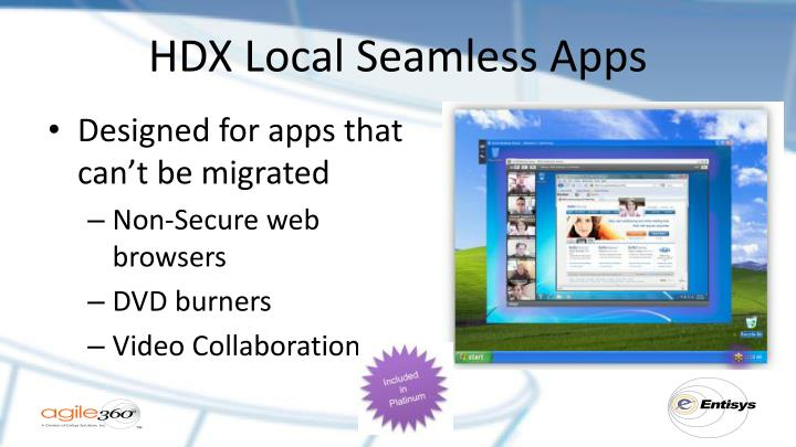 HDX Local Seamless Apps
