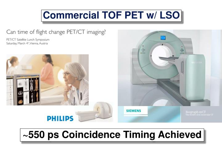 Commercial TOF PET w/ LSO