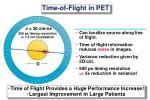 time of flight in pet