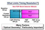 what limits timing resolution