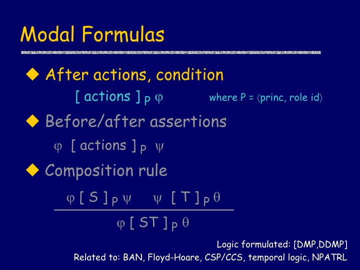 Modal Formulas