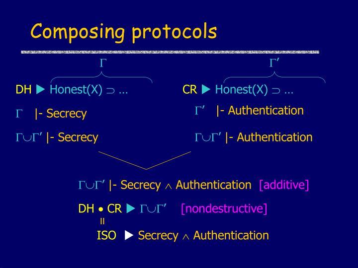 Composing protocols