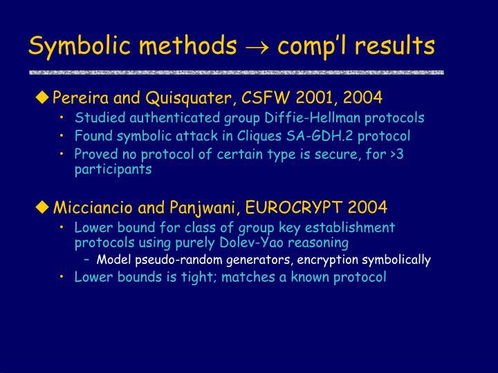 Symbolic methods