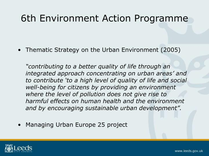 6th Environment Action Programme