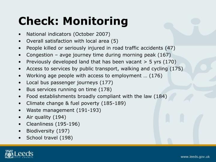 Check: Monitoring