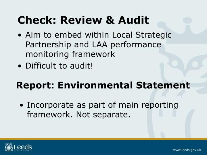 Check: Review & Audit