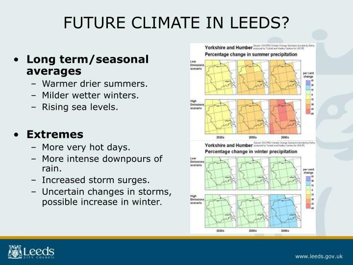 FUTURE CLIMATE IN LEEDS?