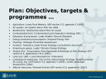 plan objectives targets programmes