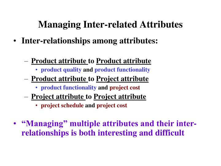 Managing Inter-related Attributes