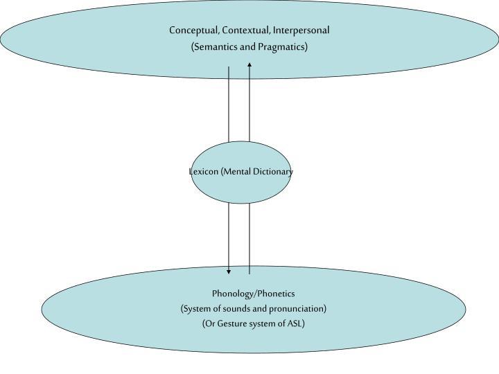 Conceptual, Contextual, Interpersonal