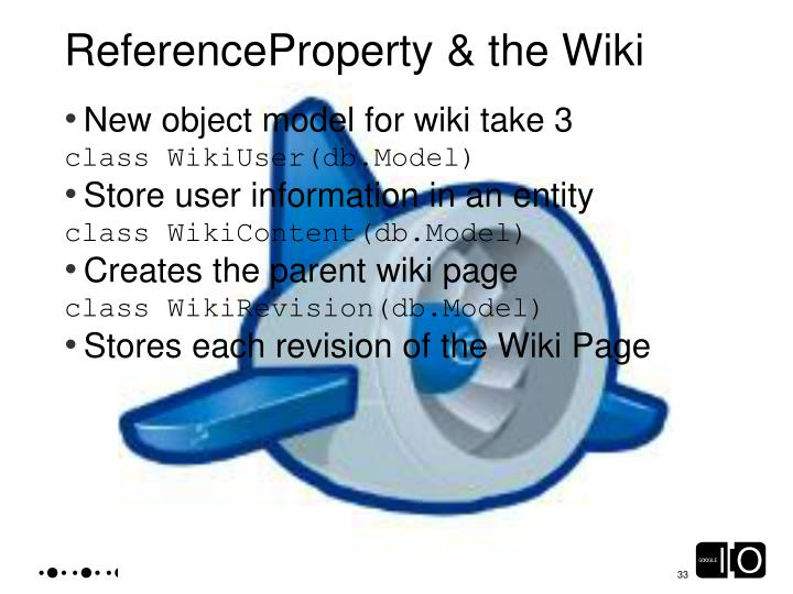 ReferenceProperty & the Wiki
