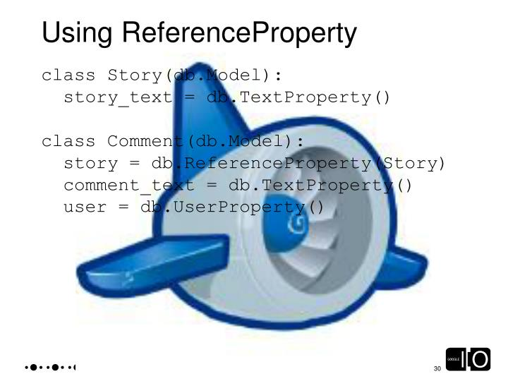 Using ReferenceProperty