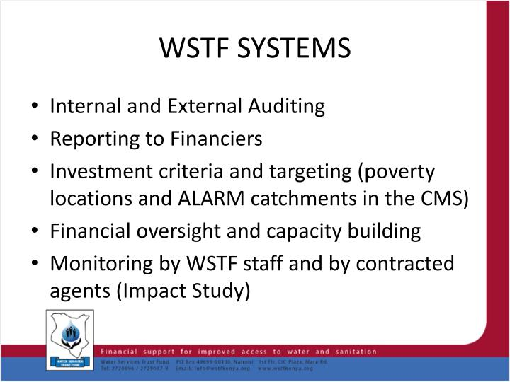 WSTF SYSTEMS