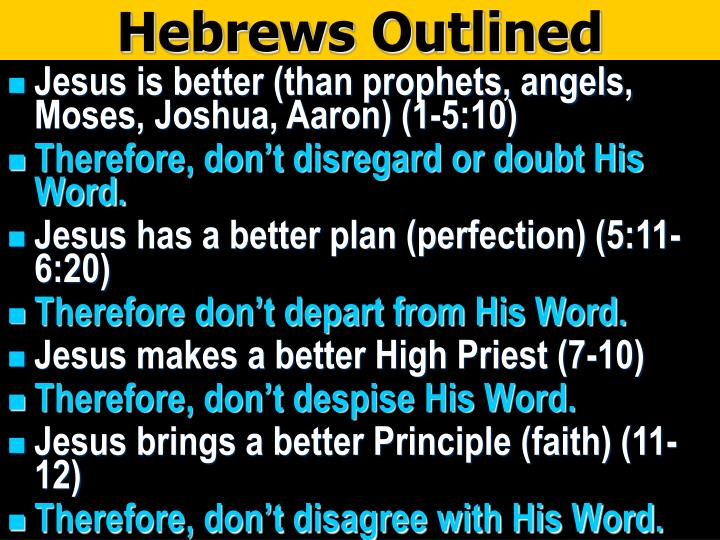 Hebrews Outlined