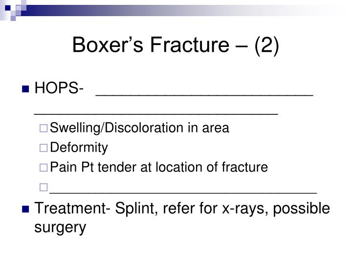 Boxer's Fracture – (2)
