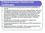critical success factors and challenges