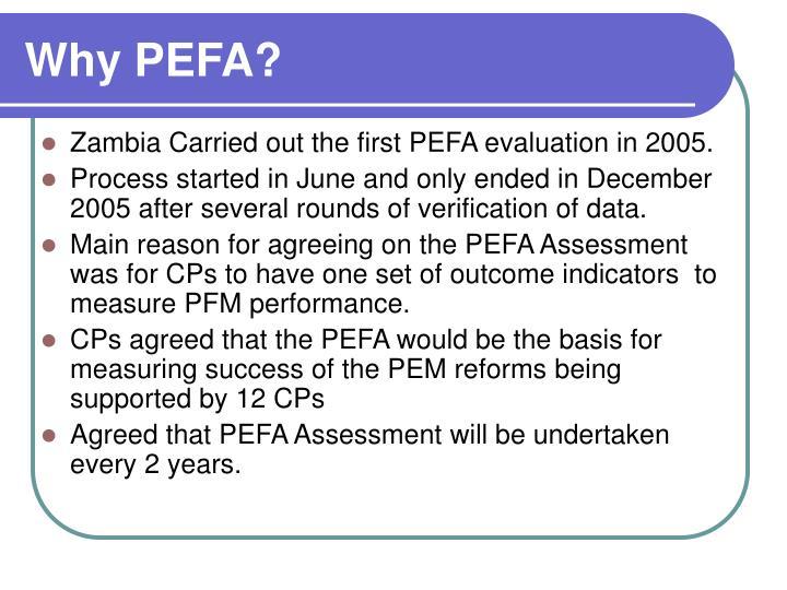 Why PEFA?