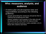 who measurers analysts and audience2
