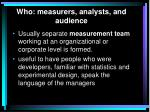 who measurers analysts and audience3