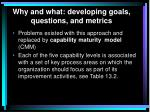 why and what developing goals questions and metrics3