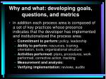 why and what developing goals questions and metrics4