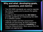 why and what developing goals questions and metrics8