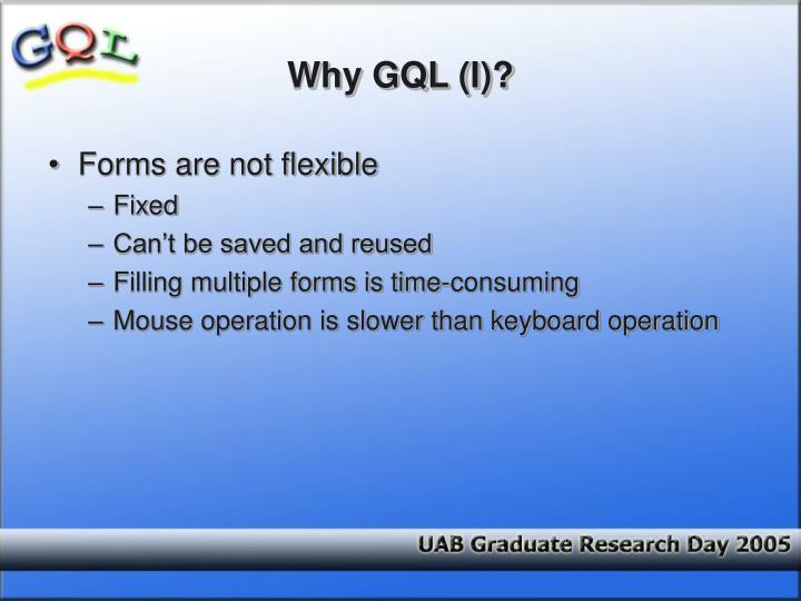 Why GQL (I)?