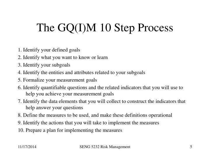 The GQ(I)M 10 Step Process