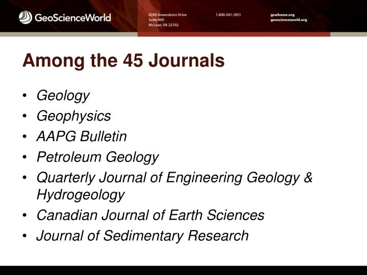 Among the 45 Journals