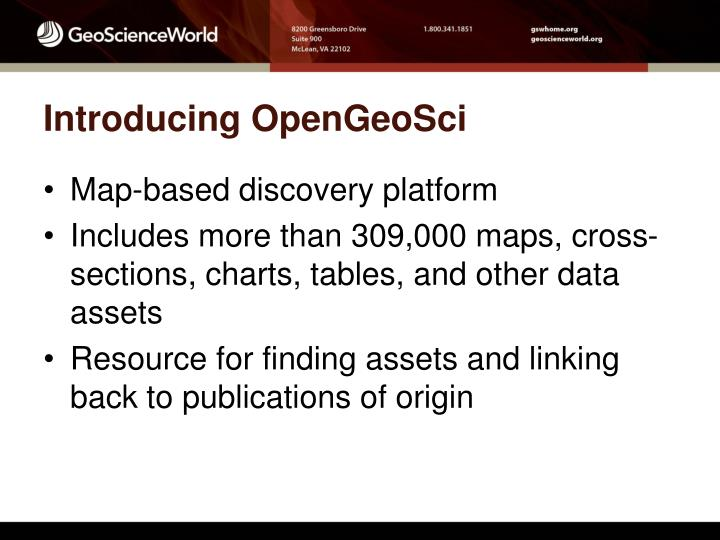 Introducing OpenGeoSci
