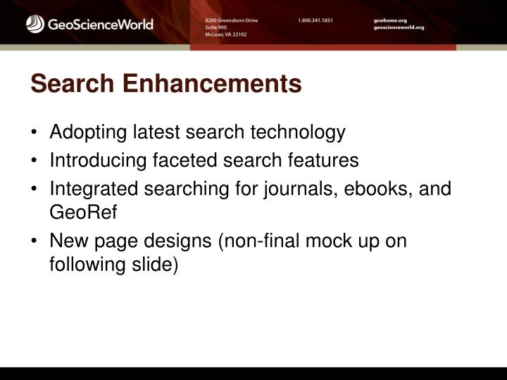 Search Enhancements