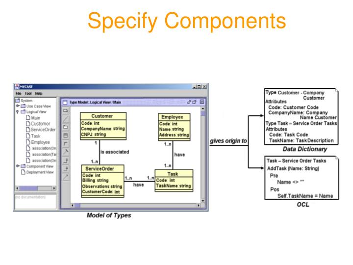 Specify Components