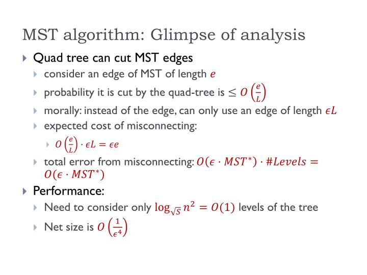 MST algorithm: Glimpse of analysis