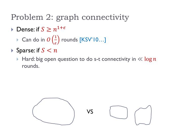 Problem 2: graph connectivity