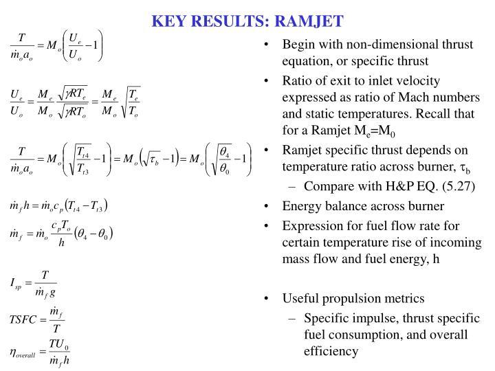 KEY RESULTS: RAMJET