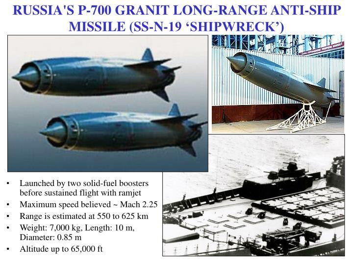 RUSSIA'S P-700 GRANIT LONG-RANGE ANTI-SHIP MISSILE (SS-N-19 'SHIPWRECK')