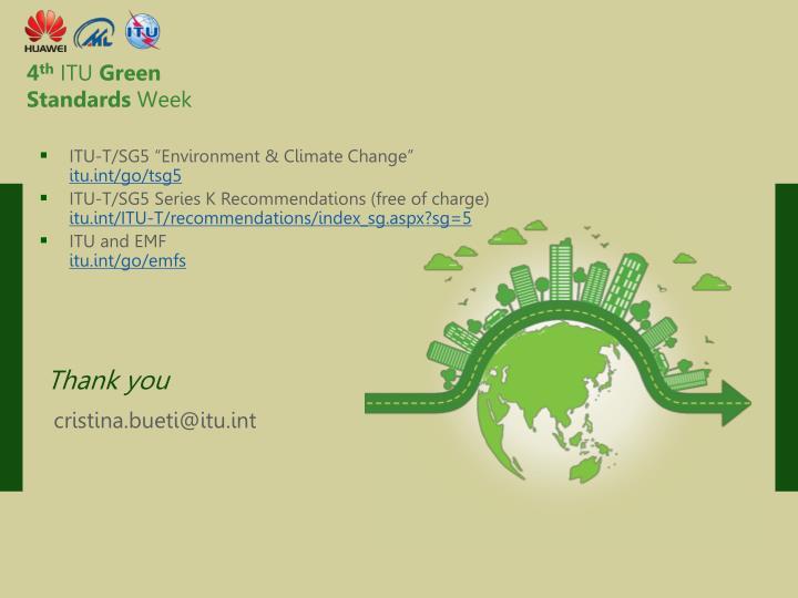"ITU-T/SG5 ""Environment & Climate Change"""