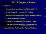 ifmis project status