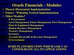 oracle financials modules