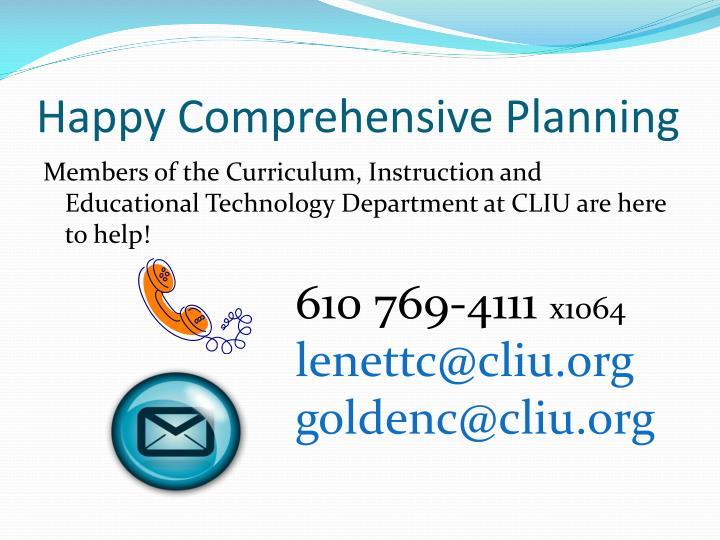 Happy Comprehensive Planning